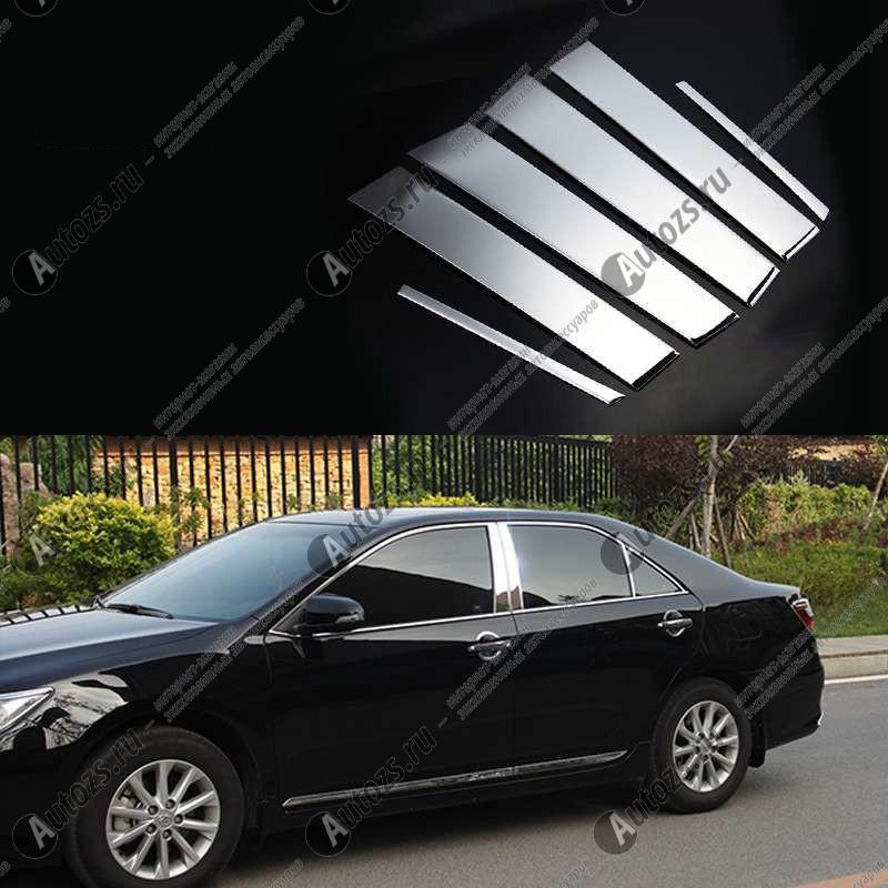 Молдинги окон Toyota Camry XV50 2014+ (6 молдингов)