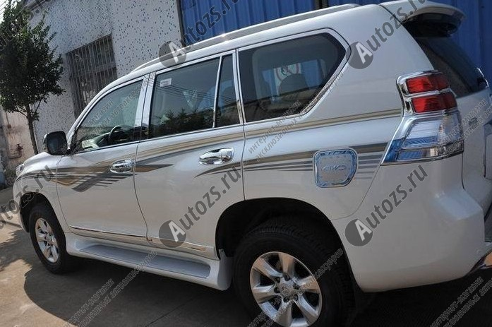 Молдинги окон Toyota Land Cruiser Prado 150 2013+ (24 молдингов)