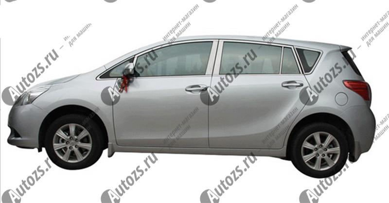 Молдинги окон Toyota Verso 1, 2 2009+ (24 молдинга)
