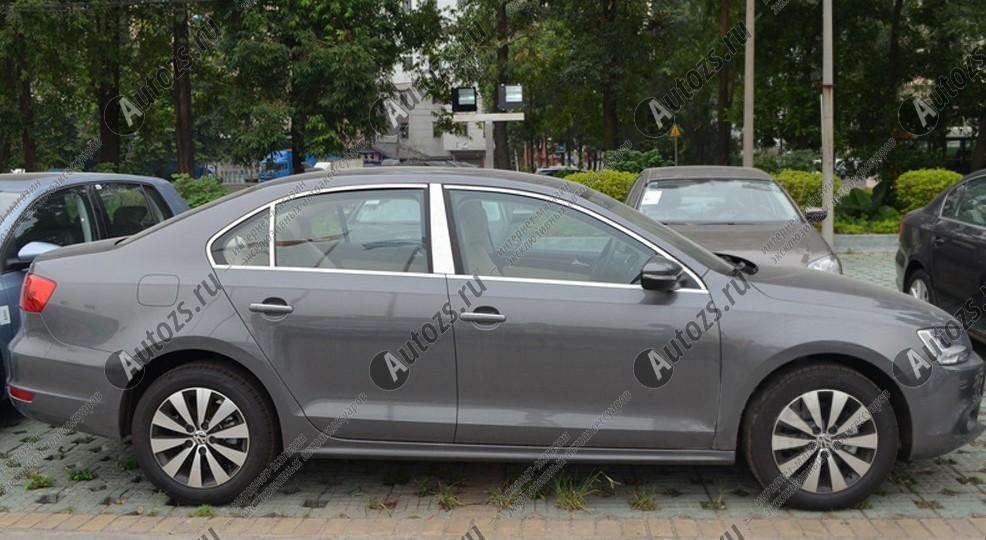 Молдинги окон Volkswagen Jetta 6 2011+ (14 молдингов)Хромированные накладки Volkswagen Jetta<br>Молдинги относятся к наиболее распространенным элементам внешнего автомобильного тюнинга. Аксессуары выполняются в виде небольших выпуклых планок для декорирования боковых окон автомобиля. Накладки на окна двер...<br>