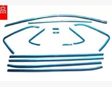 Купить со скидкой Молдинги окон Volkswagen Polo 5 2009-2015 хэтчбек (12 молдингов)