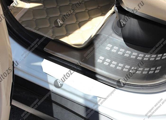 Купить со скидкой Накладки на пороги Mitsubishi Outlander 3 2012+ внутренние