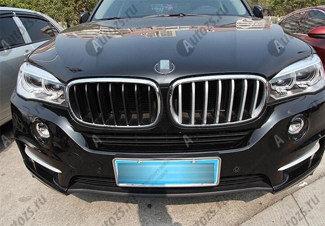 Хром накладка на решетку радиатора BMW X5 F15 2013+Хромированные накладки BMW X5<br>Декоративные накладки разработаны специально для установки на решетку радиатора автомобиля BMW X5.Они придают транспортному средству завершенный, уникальный образ и обеспечивают защиту установленной заводской реш...<br>