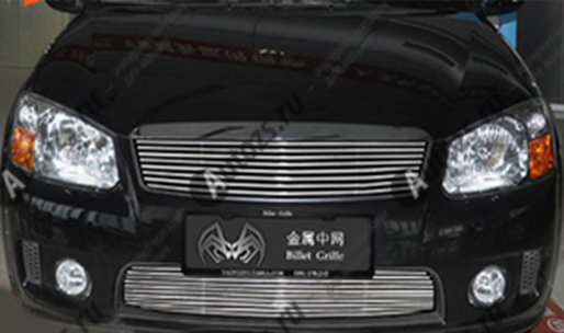 Хром решетка радиатора KIA Cerato 1 2007-2009Хромированные накладки KIA Cerato<br>Декоративные накладки разработаны специально для установки на решетку радиатора автомобиля KIA Cerato они придают транспортному средству завершенный, уникальный образ и обеспечивают защиту установленной заводской р...<br>