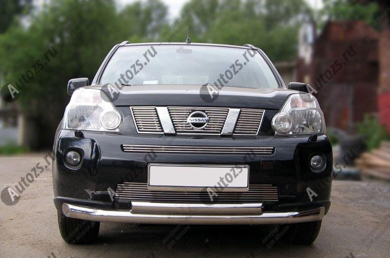 Хром решетка радиатора Nissan X-Trail T31 2007-2011