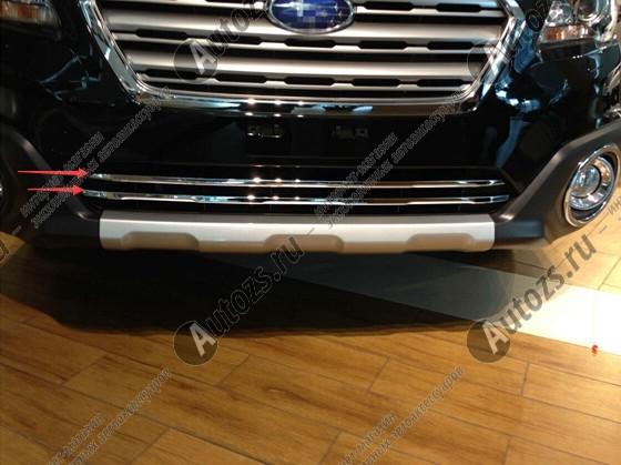 Хром накладка на решетку радиатора Subaru Outback 5 2015+