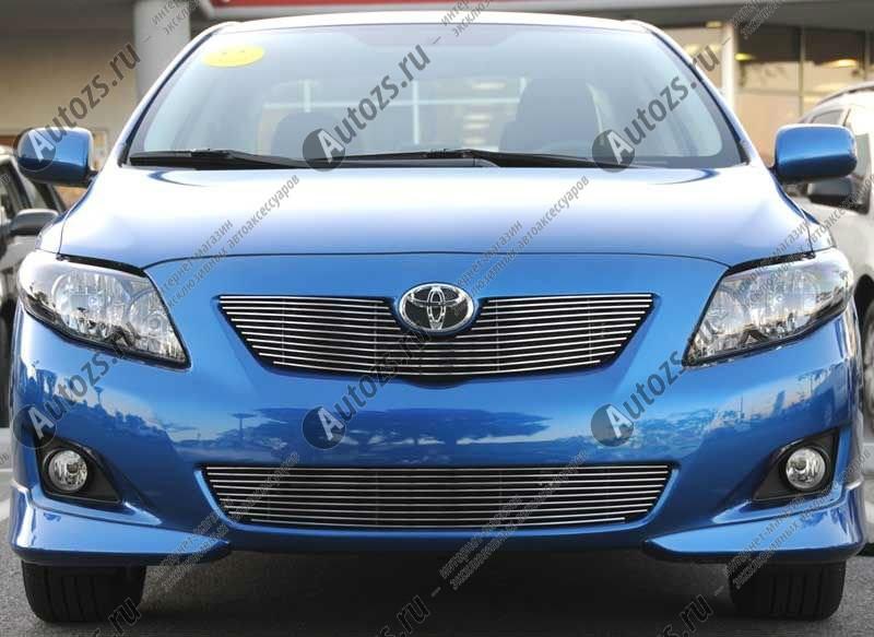 Хром решетка радиатора Toyota Corolla E140/E150 2006-2010