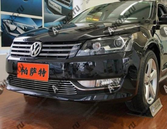 Купить Хром решетка радиатора Volkswagen Passat B7 2011-2015