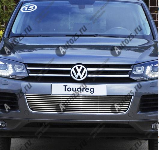 Купить со скидкой Хром решетка радиатора Volkswagen Touareg V6 2010-2014
