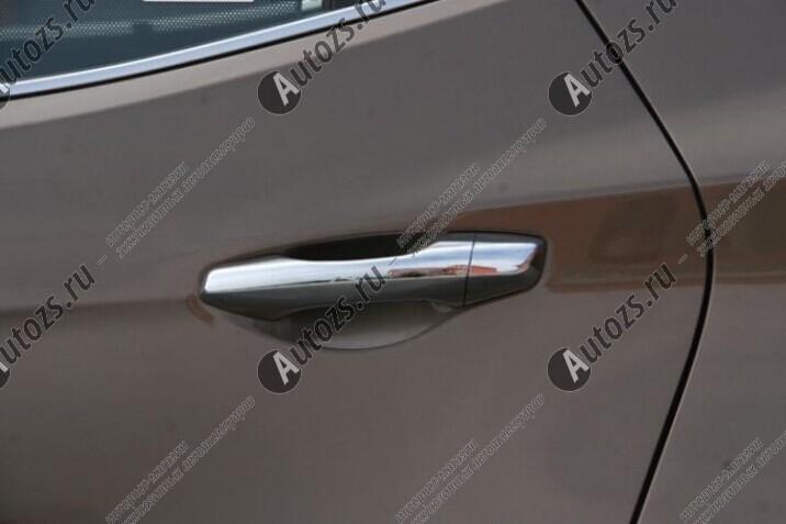 Накладки на дверные ручки Hyundai Santa Fe 3 2012+