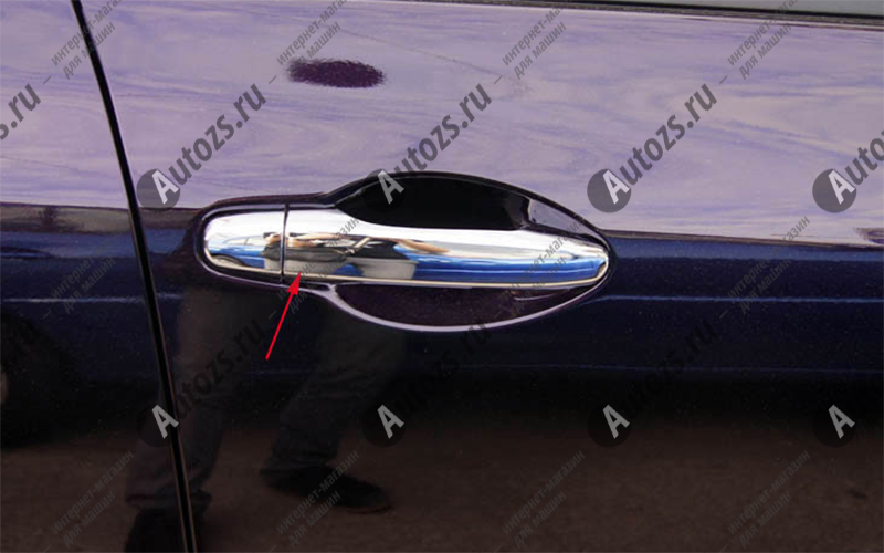 Накладки на дверные ручки Mazda CX-5 1 2011+Хромированные накладки Mazda CX-5<br>Хромированные аксессуары используются для установки на ручки дверей и декоративного оформления других деталей кузова автомобиля. Накладки также выполняют защитную функцию, предотвращая возникновения мелких цара...<br>
