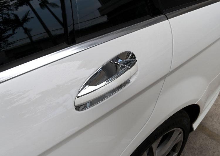 Накладки на дверные ручки Mercedes-Benz GLK, GL, ML, C, E стальные