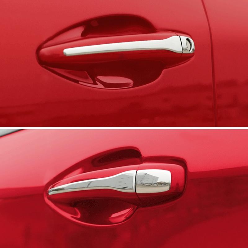 Купить со скидкой Накладки на дверные ручки Peugeot 207 стальные