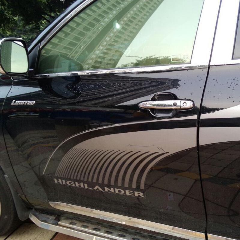 Накладки на дверные ручки Toyota Highlander 2 2010-2014 с отверстиемХромированные накладки Toyota Highlander<br>Хромированные аксессуары используются для установки на ручки дверей и декоративного оформления других деталей кузова автомобиля. Накладки также выполняют защитную функцию, предотвращая возникновения мелких цара...<br>