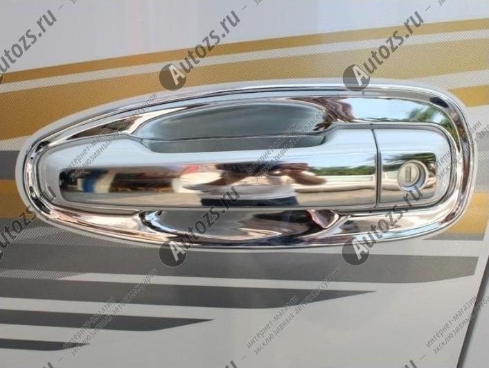Фото #1: Накладки на дверные ручки Toyota Land Cruiser Prado 150 2013+