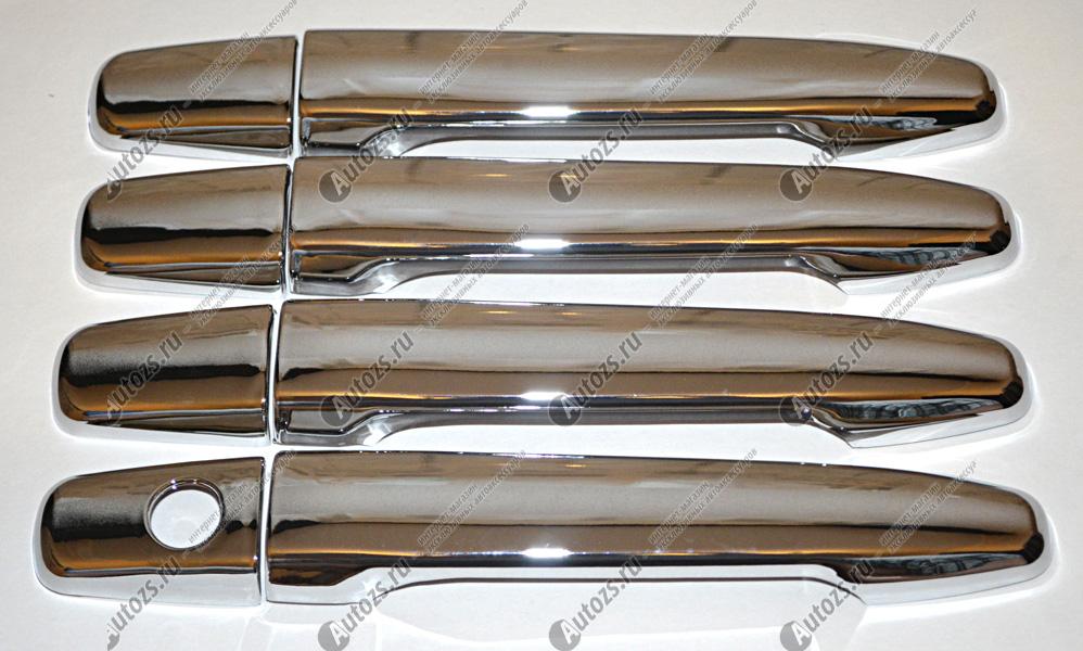 Купить со скидкой Накладки на дверные ручки Mitsubishi Outlander 2, 3 2007-2015