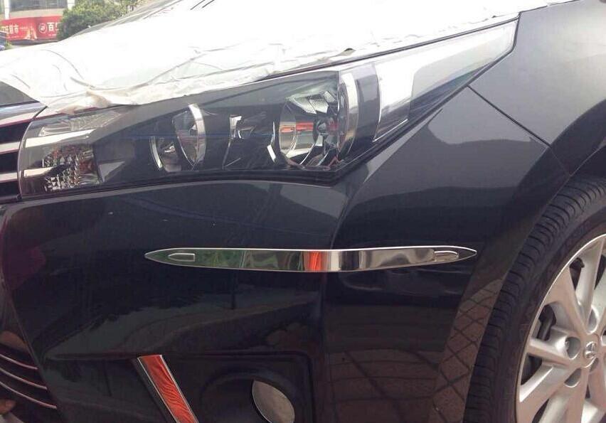 Накладки на углы бампера Toyota Corolla E160 2013+