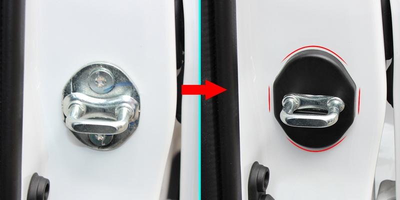 Накладки на петли замков Mitsubishi ASXХромированные накладки Toyota RAV 4<br>Декоративный элемент автомобиля. Скрывает заводскую петлю замка двери, защищает от загрязнения. Стильное и практичное дополнение Вашего автомобиля....<br>
