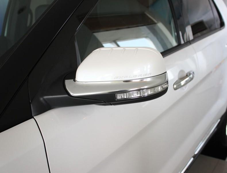 Накладки на зеркала заднего вида Ford Explorer 5 2011+ BХром накладки на зеркала<br>Использование накладок на зеркала придает автомобилю оригинальный и презентабельный вид, эффектно выделяя его из общего потока транспорта. Кроме того, плавные изгибы накладок повышают обтекаемость и улучшают аэро...<br>
