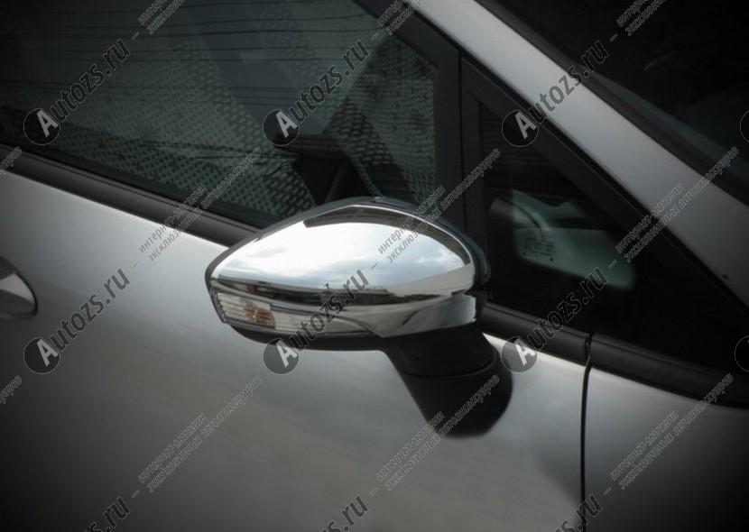 Купить со скидкой Накладки на зеркала заднего вида Ford Fiesta 6 2008+