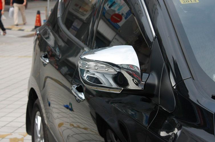 Накладки на зеркала заднего вида Hyundai ix35 2013+ с повторителями