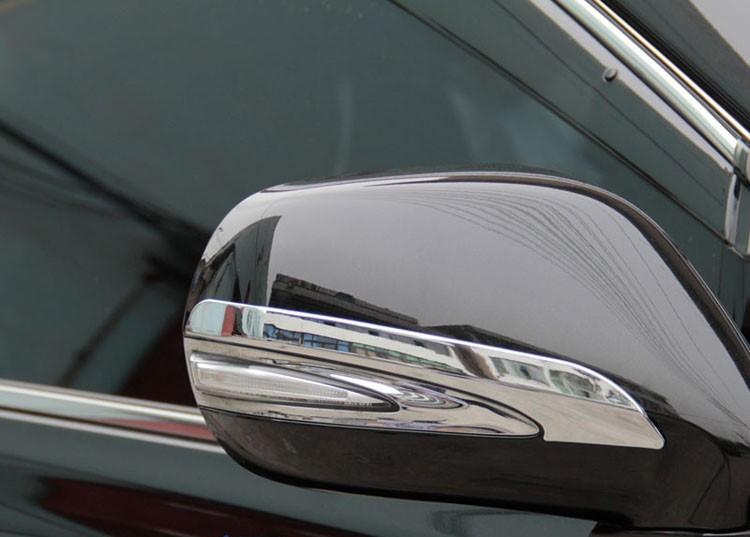 Накладки на зеркала заднего вида Lexus RX 3 2009-2015Хромированные накладки Lexus RX<br>Использование накладок на зеркала придает автомобилю оригинальный и презентабельный вид, эффектно выделяя его из общего потока транспорта. Кроме того, плавные изгибы накладок повышают обтекаемость и улучшают аэро...<br>