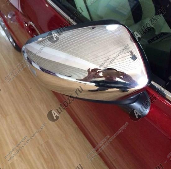 Накладки на зеркала заднего вида Mazda 3 BM 2013+ AХромированные накладки Mazda 3 <br>Использование накладок на зеркала придает автомобилю оригинальный и презентабельный вид, эффектно выделяя его из общего потока транспорта. Кроме того, плавные изгибы накладок повышают обтекаемость и улучшают аэро...<br>