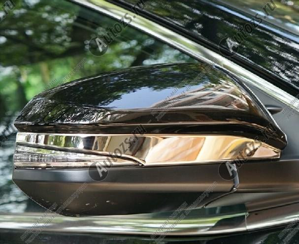 Купить Накладки на зеркала заднего вида Toyota Highlander 3 2014+ B