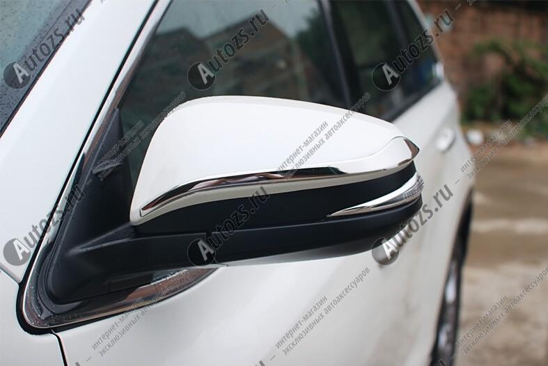 Накладки на зеркала заднего вида Toyota Highlander 3 2014+ C