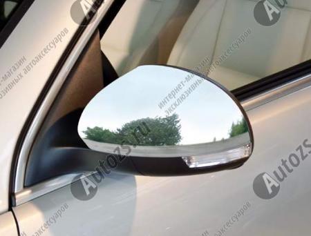 Накладки на зеркала заднего вида Volkswagen Tiguan 1 2007-2015Хромированные накладки Volkswagen Tiguan 1 2007-2016<br>Использование накладок на зеркала придает автомобилю оригинальный и презентабельный вид, эффектно выделяя его из общего потока транспорта. Кроме того, плавные изгибы накладок повышают обтекаемость и улучшают аэро...<br>