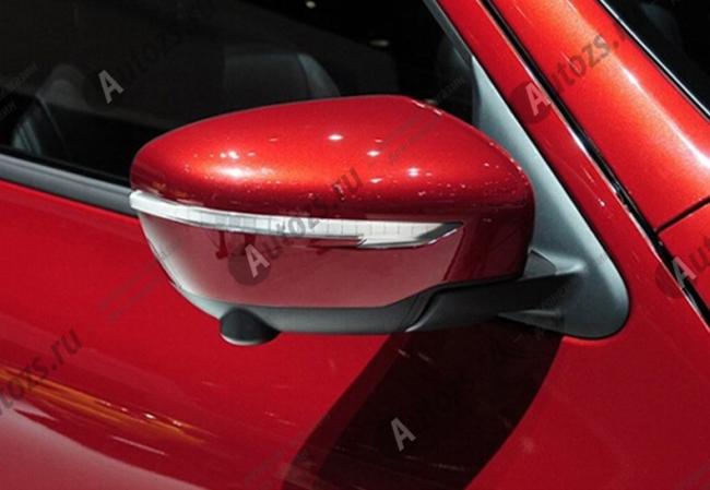 Накладки на зеркала заднего вида Nissan Juke YF15 2014+Хромированные накладки Nissan Juke<br>Использование накладок на зеркала придает автомобилю оригинальный и презентабельный вид, эффектно выделяя его из общего потока транспорта. Кроме того, плавные изгибы накладок повышают обтекаемость и улучшают аэро...<br>