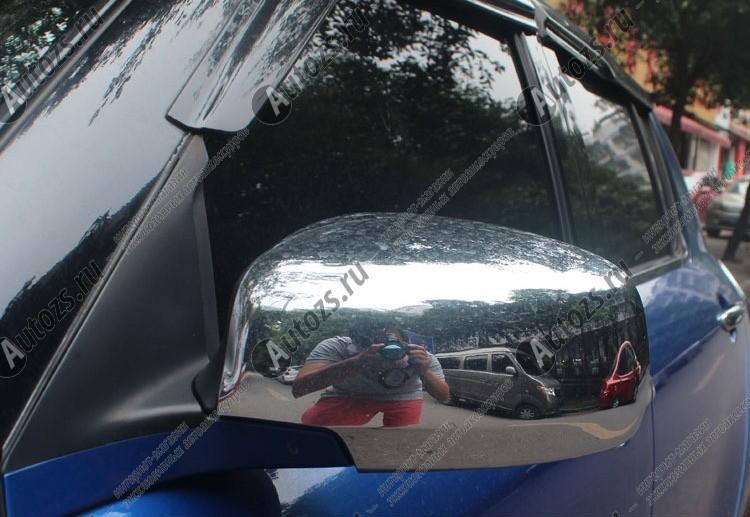 Накладки на зеркала заднего вида Suzuki Swift 3 2004-2010Хром накладки на зеркала<br>Использование накладок на зеркала придает автомобилю оригинальный и презентабельный вид, эффектно выделяя его из общего потока транспорта. Кроме того, плавные изгибы накладок повышают обтекаемость и улучшают аэро...<br>