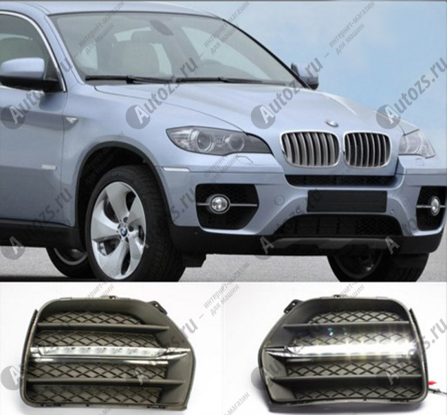 Дневные ходовые огни BMW X6 E71 2008-2012