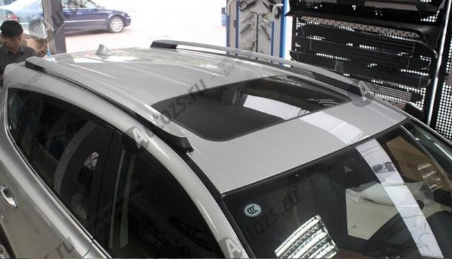 Рейлинги Toyota Rav 4 CA40 2013-2016Рейлинги хромированные<br>Конструкция рейлингов выполнена из усиленного металического каркаса способного выдерживать, значительные механические нагрузки. Дизайн рейлингов отвечает всем последним тенденциям этого направления тюнинга ...<br>