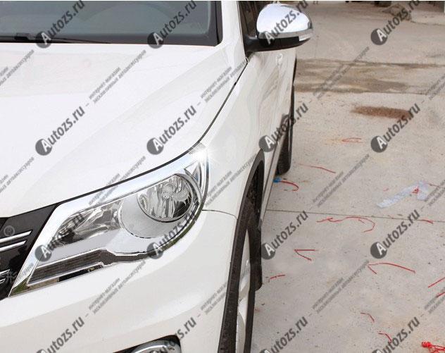 Хромированные накладки на фары Volkswagen Tiguan 1 2007-2011Хромированные накладки Volkswagen Tiguan<br>Установка накладок на фары является популярным среди автолюбителей способом внешнего тюнинга автомобилей. Стильные и надежные аксессуары не только служат оригинальными декоративными элементами дизайна, но и выпо...<br>